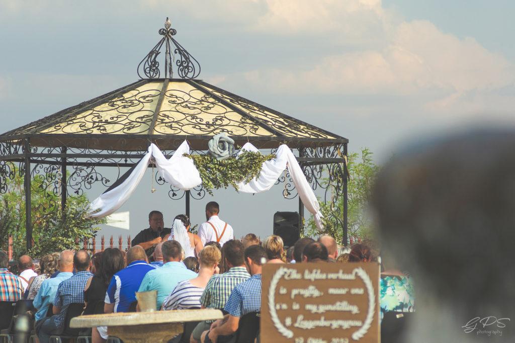 Surika Bridal Couple facing Pastor