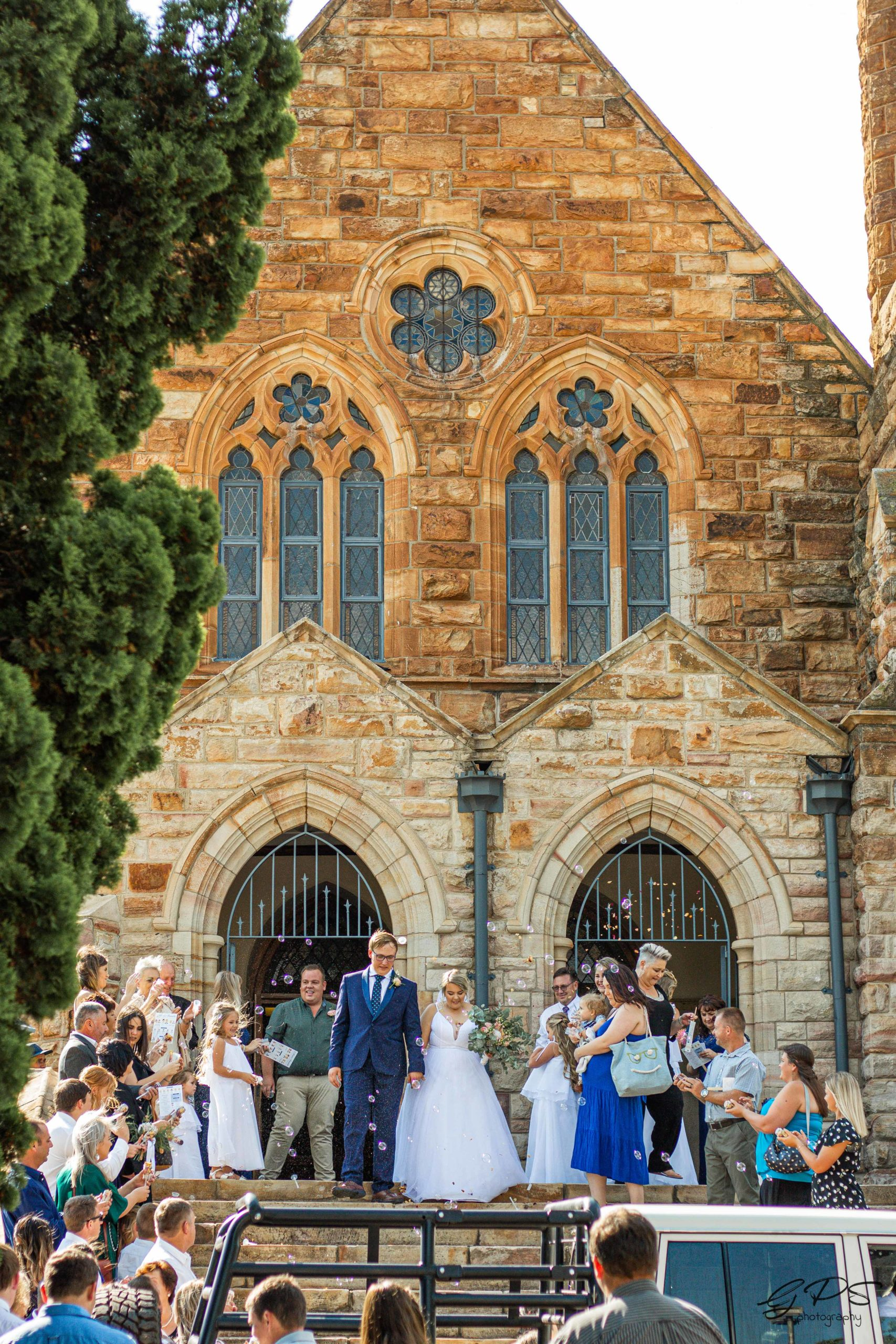 Bride and Groom exit, Heidelberg Church